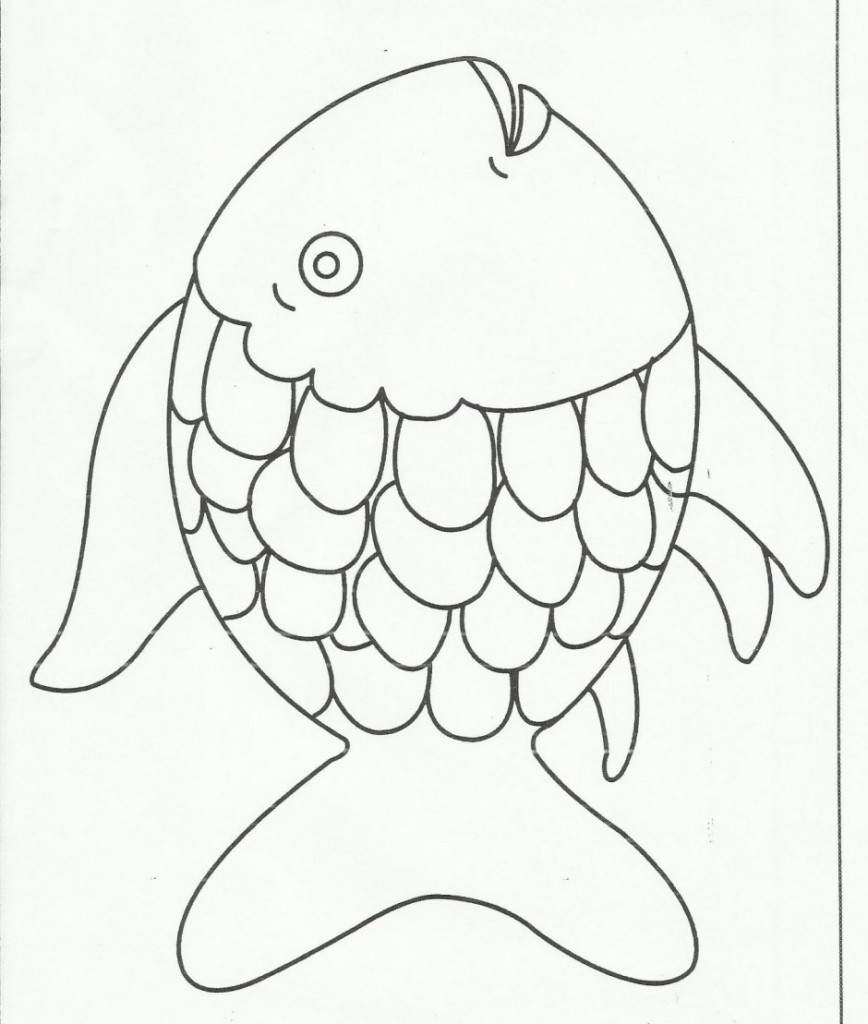 fish preschool coloring pages - photo#22