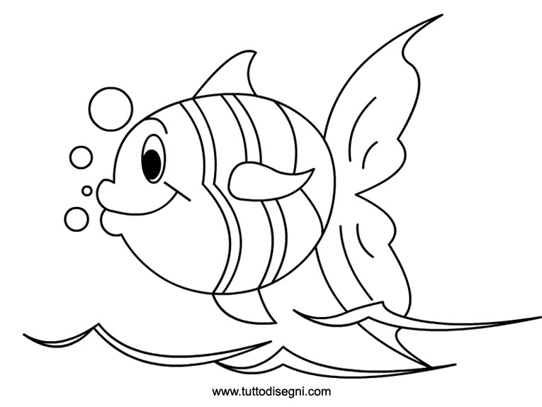 Fish coloring pages for preschool preschool and kindergarten for Pesci da disegnare per bambini