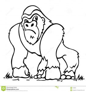 animals-gorilla-printable-coloring-pages-for-preschool