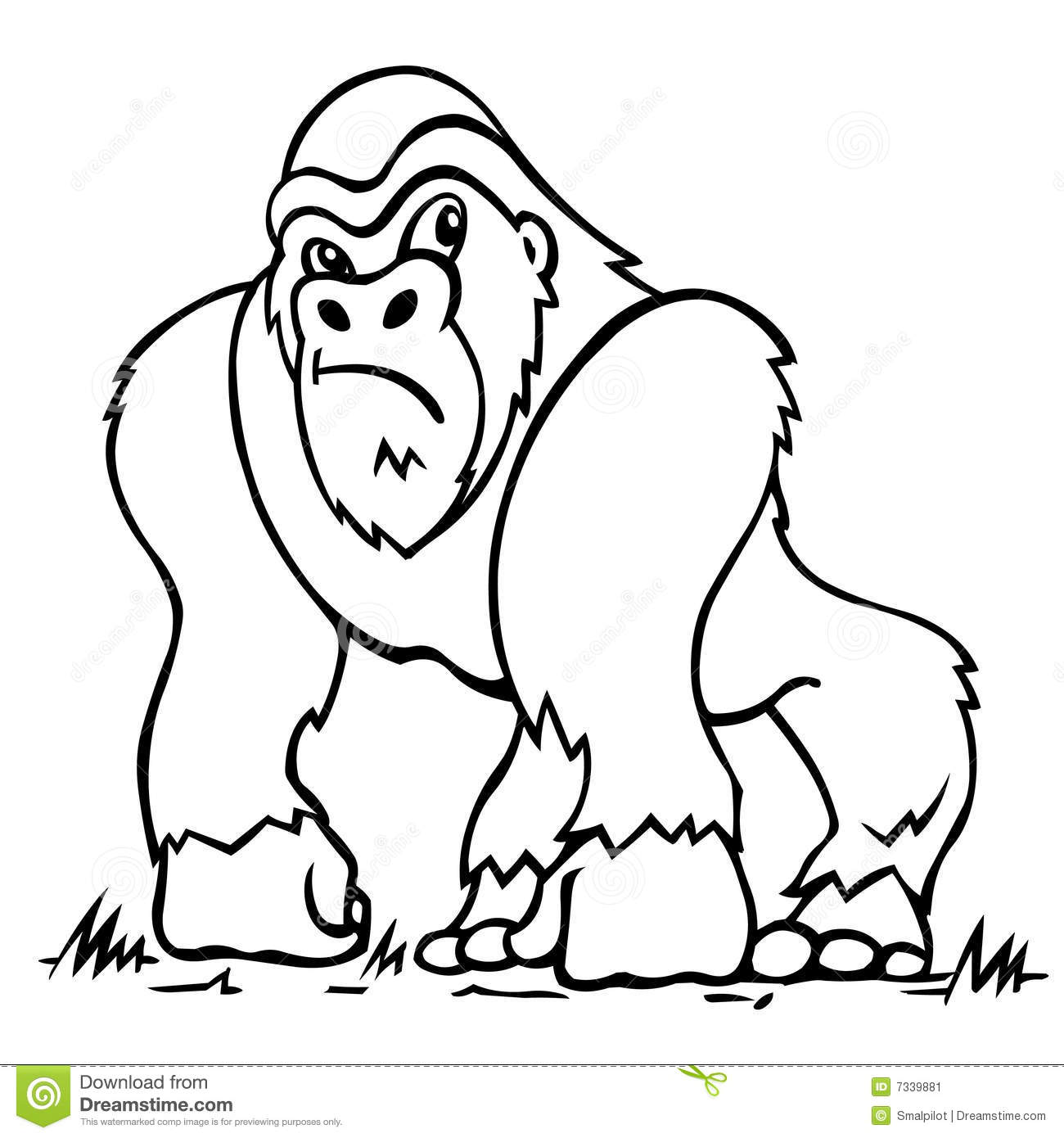animals gorilla printable coloring pages for preschool preschool