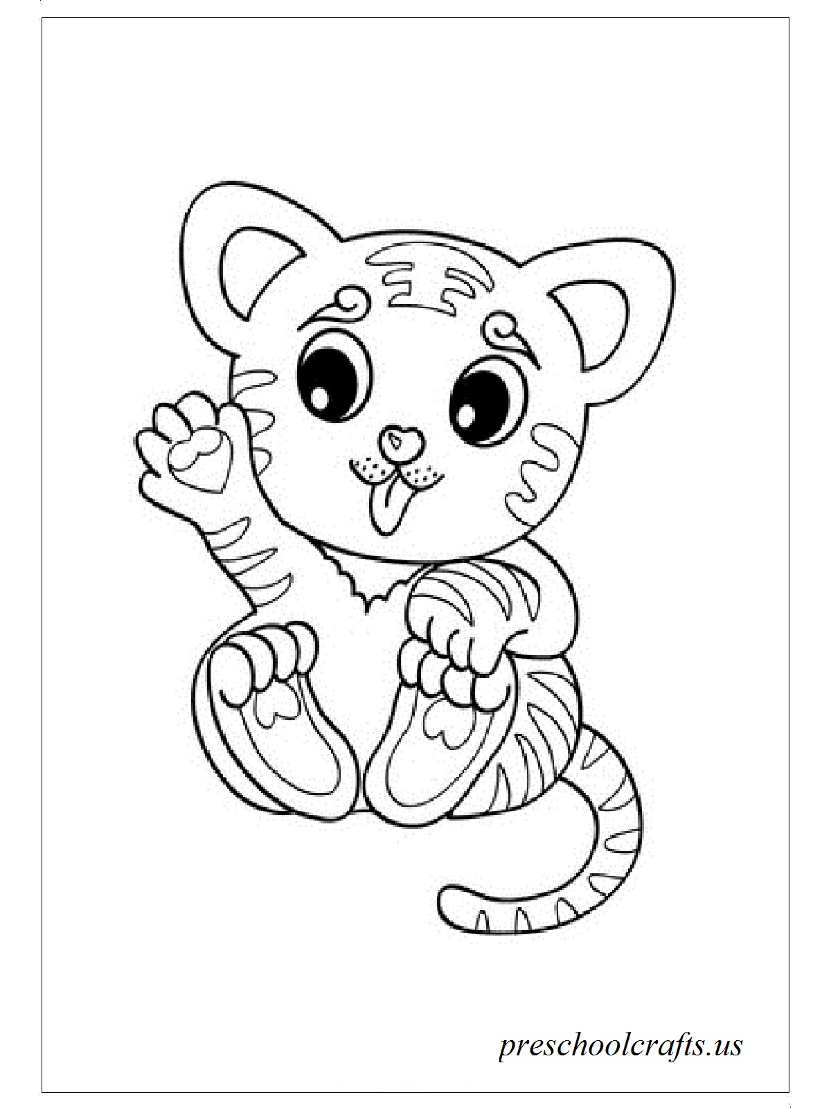 baby tigers coloring pages - photo#21