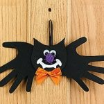 bat craft idea with hand templates
