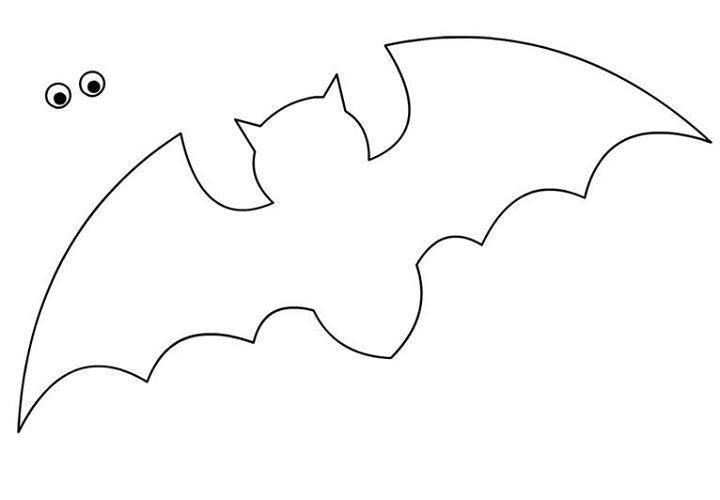 Bat Template For Halloween Crafts - Preschool Crafts