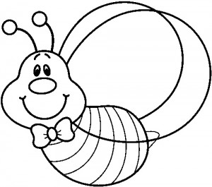 bee coloring pages for preschool - photo#33
