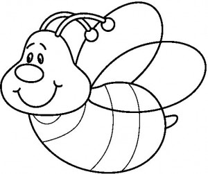 bee coloring page 7