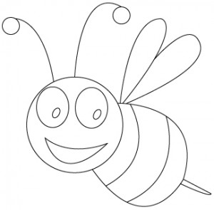 bee coloring pages 2