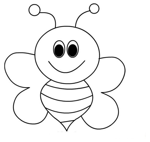 Bee Coloring Pages For Kids Preschool And Kindergarten