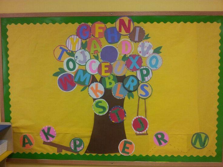 All Letters Bulletin Boards Preschool And Kindergarten