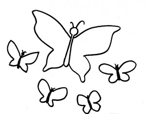 butterflys coloring page