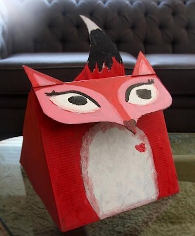 carton fox crafts ideas for kids