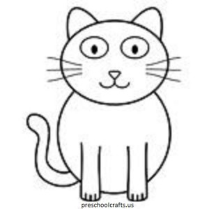Cat Coloring Pages For Kids - Preschool and Kindergarten
