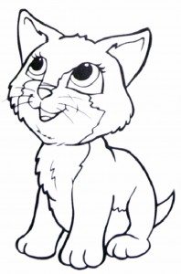 cat junior coloring page