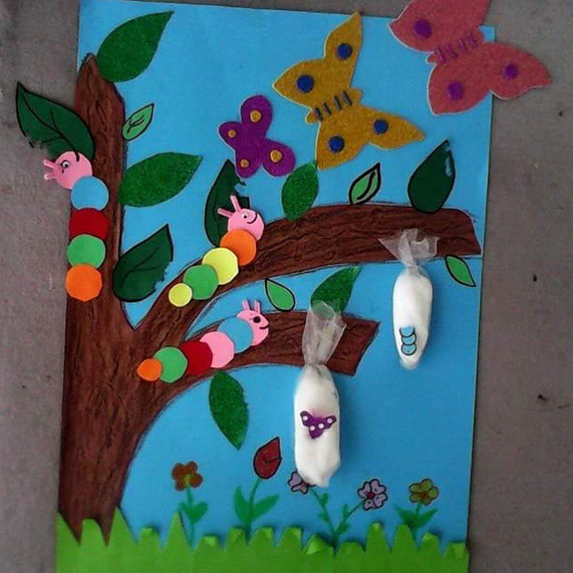 Caterpillar be butterfly crafts activities for preschool for Butterflies for crafts and decoration
