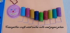 caterpillar craft from toilet rolls