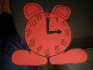 clock crafts for child
