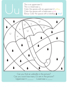 color-letter-capital-lowercase-worksheeet