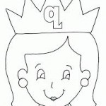 coloring pages for kids, letter q  coloring pages for preschool, princess