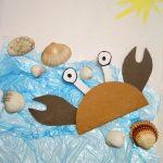 crab craft idea for preschool