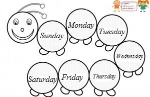 Days of the Week Worksheet for Preschool - Preschool Crafts