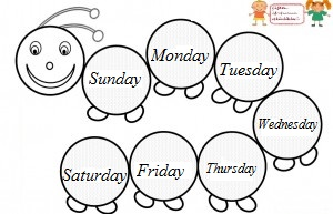 Kindergarten Writing Worksheets: Days of the week | GreatSchools