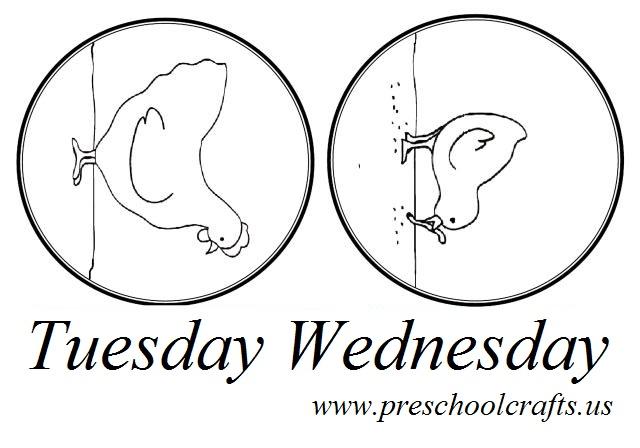 Days Of The Week Worksheet For Preschool Preschool And Kindergarten