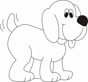 dog coloring sheets for children - Preschool Crafts