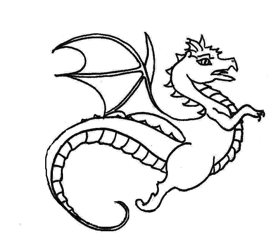dragon coloring pages - Dragon Coloring Book