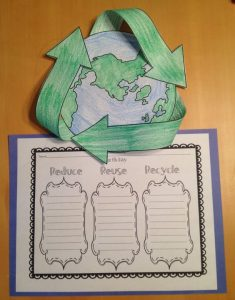 earth day bulletin board for kindergarten