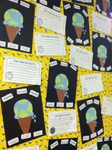 earth day bulletin board for preschool