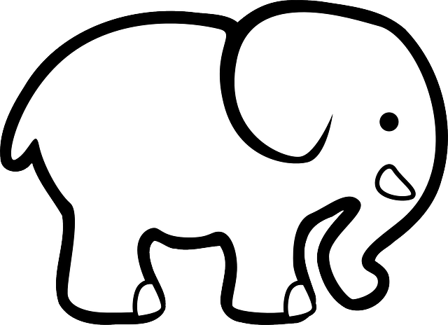 elephant coloring pages for preschoolers - photo#47