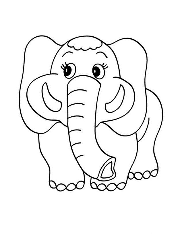 elephant coloring pages for preschool - photo#11