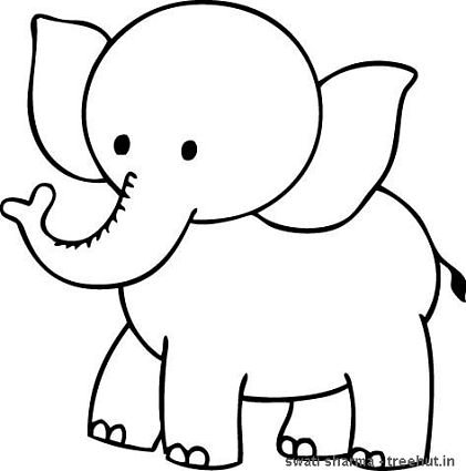 elephant coloring pages for preschool - photo#3