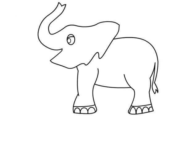 elephant coloring pages for preschool - photo#8