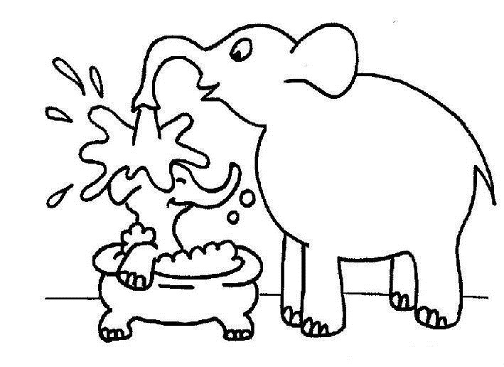 elephant coloring pages 6