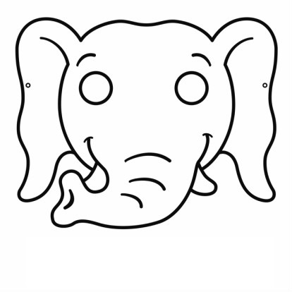 This is a picture of Decisive Elephant Mask Printable