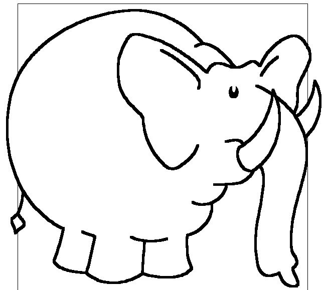 elephant coloring pages for preschoolers - photo#27