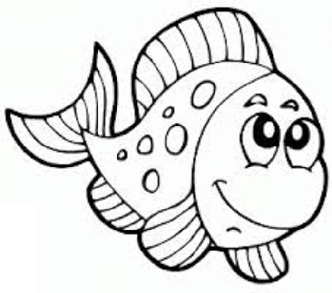 Раскраски рыбки - 6