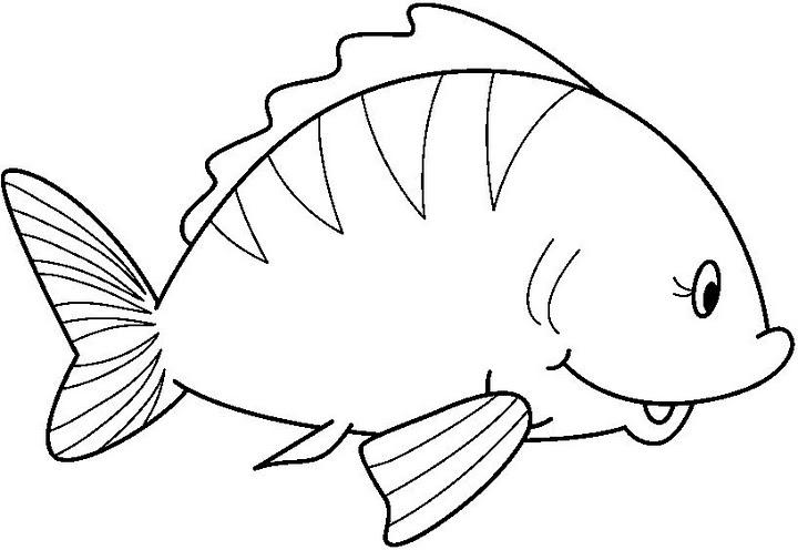 fish coloring page-worksheet 3