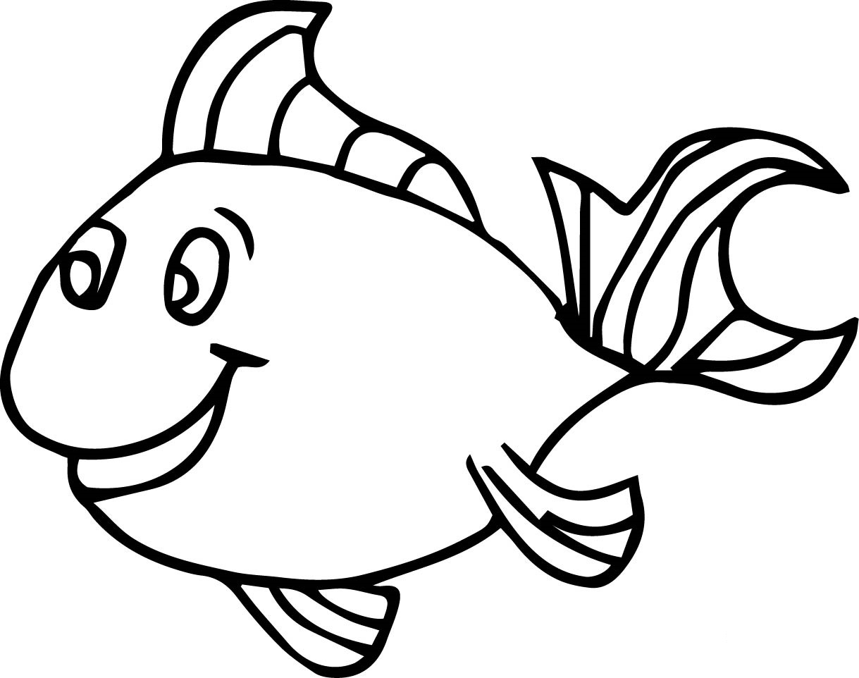 Fish coloring pages for kids preschool and kindergarten for Printable fish coloring pages