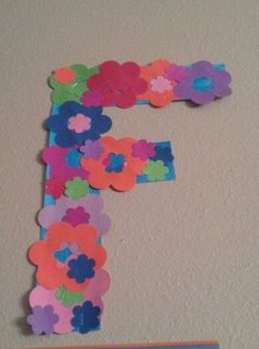flowers letter f craft