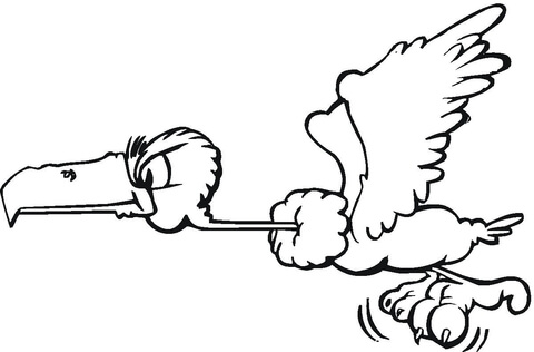 flying-buzzard-coloring-page