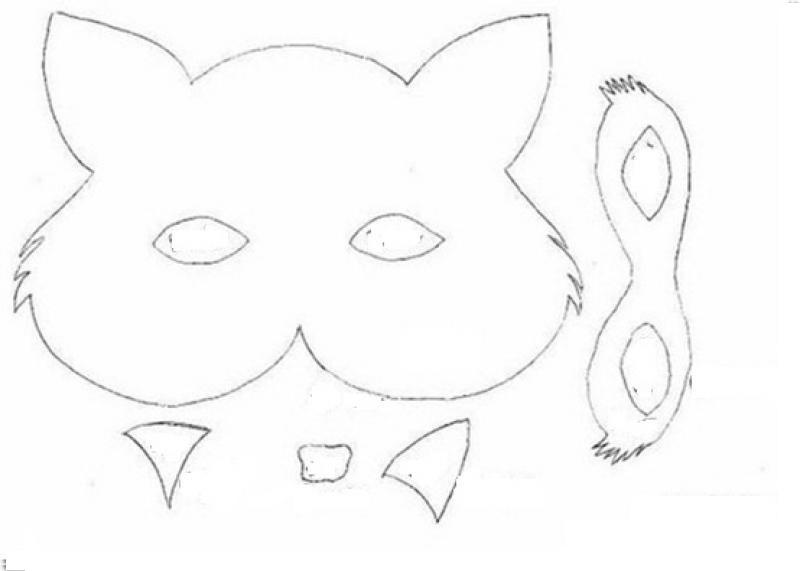 fox mask craft for preschool