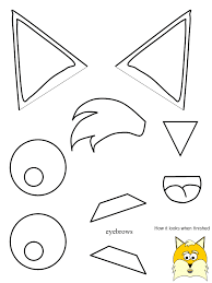fox templates for paper plate fox crafts