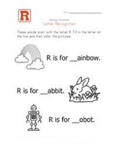 Letter r worksheets kindergarten