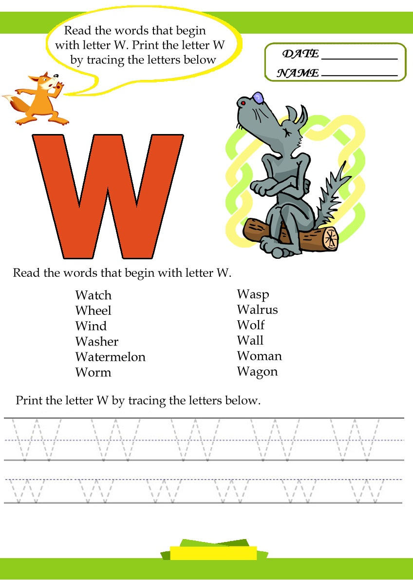 free-Letter-w-worksheets - Preschool Crafts