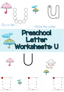 free-Preschool-Letter-u-worksheets