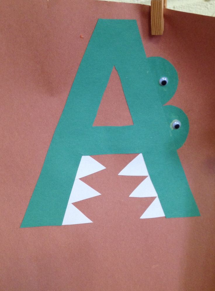 Letter a crafts for preschool preschool and kindergarten for Arts and crafts for a 1 year old
