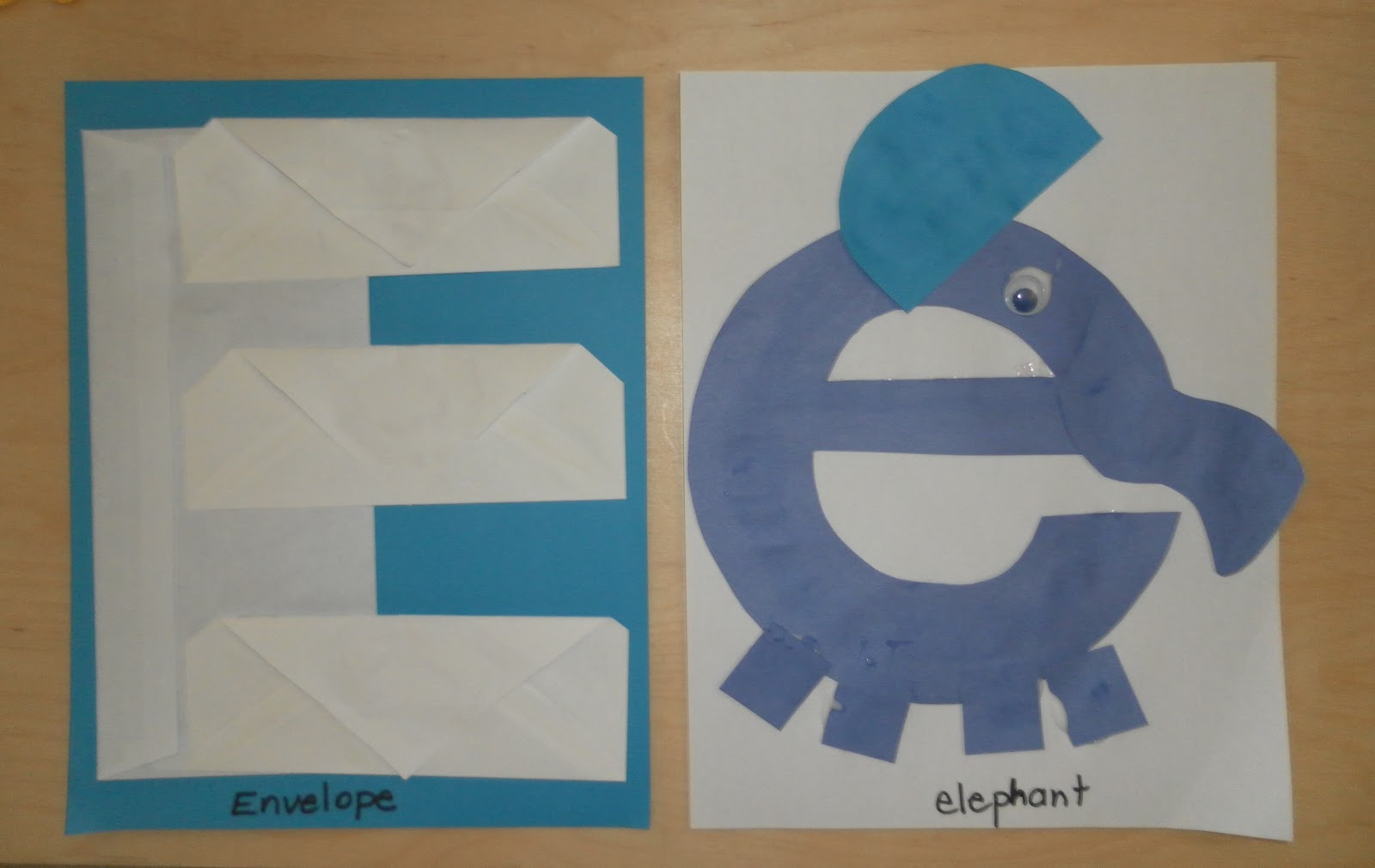 Letter E Crafts on E Is For Elephant Preschool Craft
