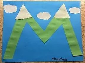 free-alphabet-letter m- crafts-mountain