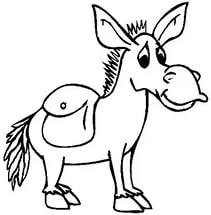 free-animals- Donkey -printable-coloring-pages-for-preschool